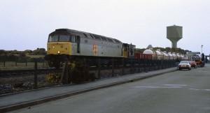 Train at gatehouse